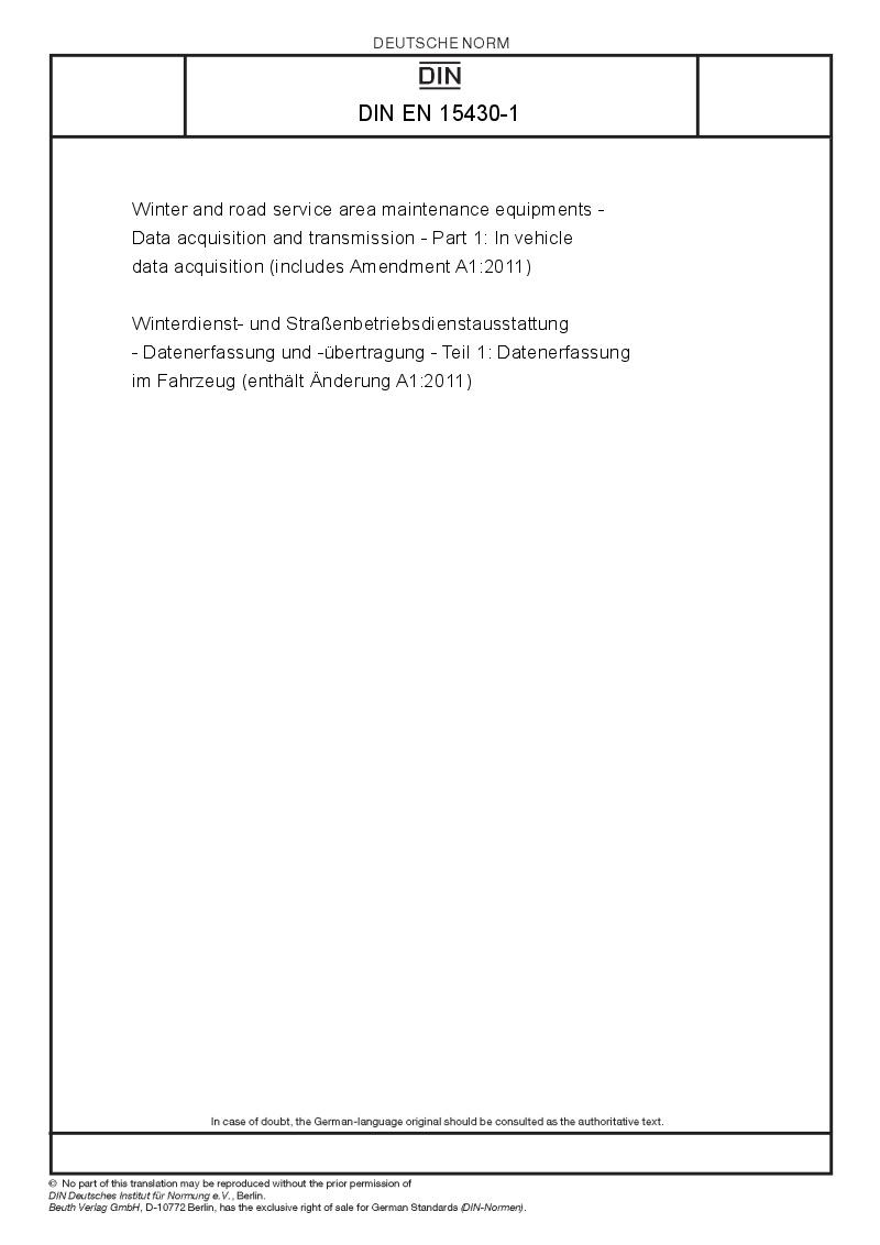 Automotive Data Acquisition : Din en  european standards