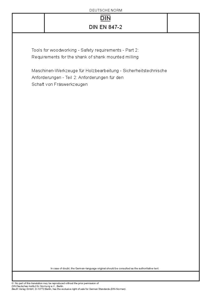 DIN EN 847-2 - European Standards