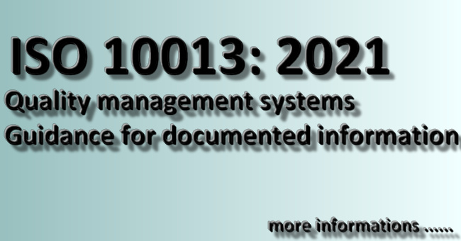 ISO 10013 Quality management systems — Guidance for documented information