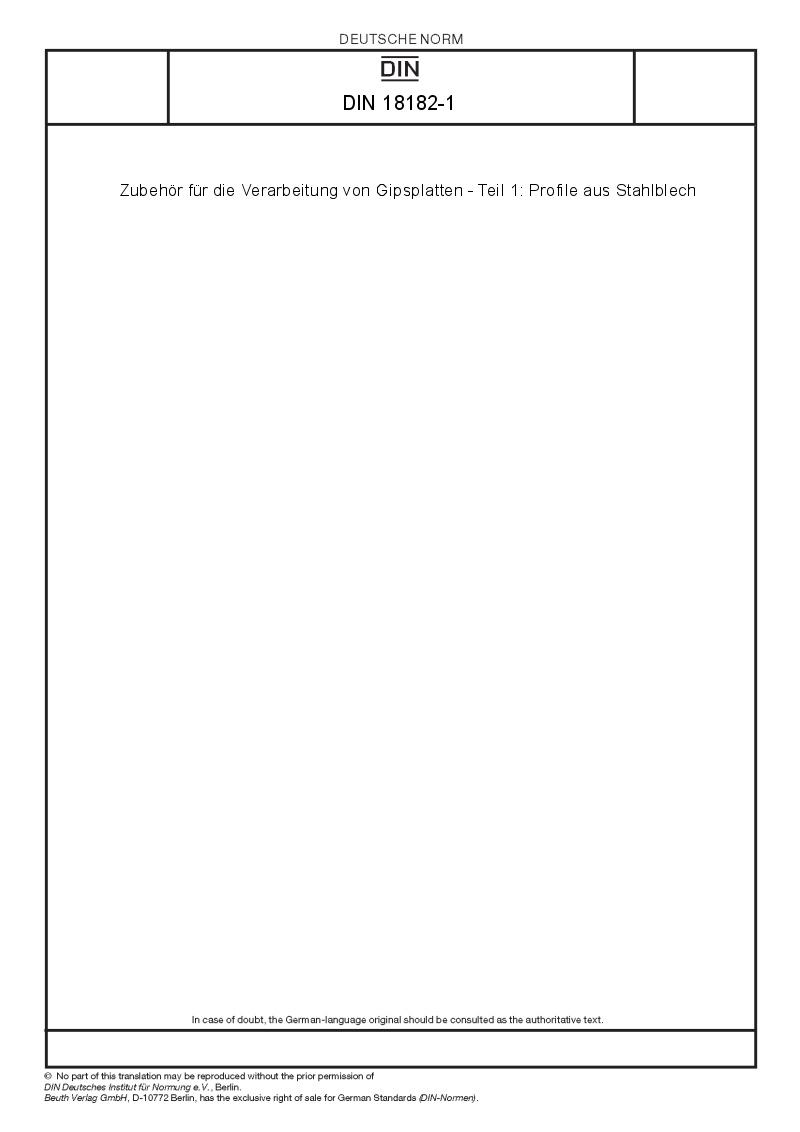 Verarbeitung Von Gipsplatten : din 18182 1 european standards ~ Lizthompson.info Haus und Dekorationen