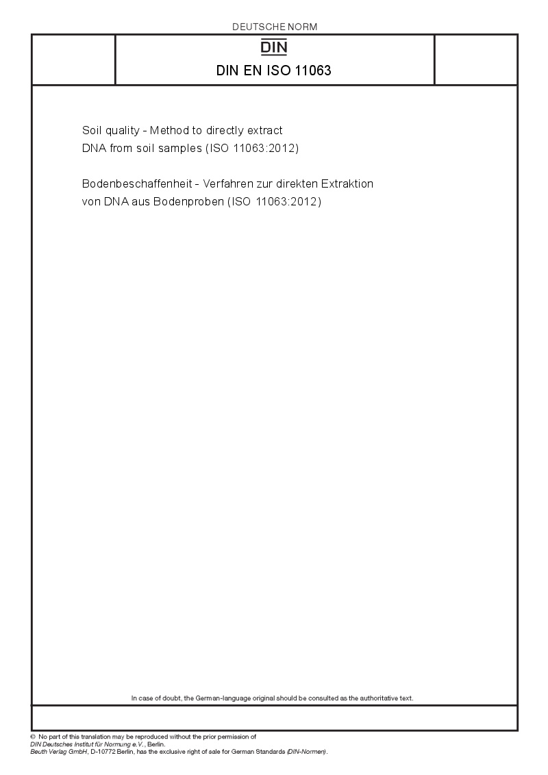 Din en iso 11063 european standards for Soil quality pdf